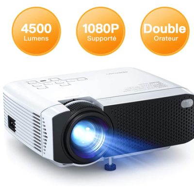 Mini proyector Apeman LC350, 4500LM, HD 1080P, compatible con TV Stick, PS4 por 49,99€ antes 69,99€.