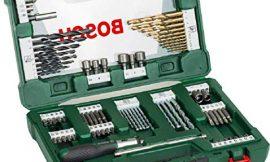 Bosch Home and Garden 2607017195 Bosch V-Line Titanio – Maletín de 91 unidades para