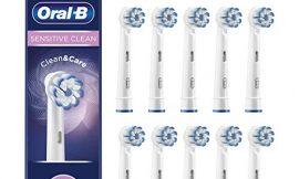 Oral-B Sensitive Clean Cabezales de recambio, Pack de10
