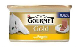 Purina Gourmet Gold – Mousse con Hégado, 24 latas de 85 g Cada una, 24 x 85 g