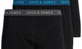 Jack & Jones Jacwaistband Trunks 3 Pack Noos Bóxer, Gris (Asphalt Detail:hawaian Ocean & Fiery Red), Medium (Pack de 3) para Hombre