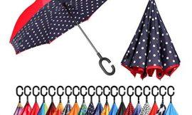 Eono by Amazon – Paraguas Invertido de Doble Capa, Paraguas Plegable de Manos Libres Autoportante