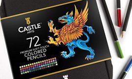 Castle Art Supplies 72 lápices de colores en estuche con cremallera para proteger