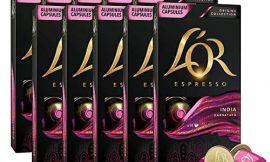L'Or Espresso Café India Intensidad 10 – 200 cápsulas de aluminio compatibles con