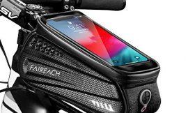 "Faireach Bolsa Manillar con Soporte Móvil para Telefono Bicicleta, Bolsa Bici, Bolso Bicicleta Impermeable y con Ventana para Pantalla Táctil, para iPhone, Samsung y Otros Smartphones de hasta 6,5"""