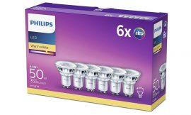 ¡Chollo! Pack de 6 Bombillas Led Foco Gu10 Cristal Philips por sólo 11,99€ (antes 20€)