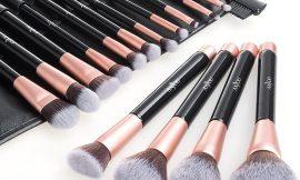 Brochas maquillaje profesional Anjou de 16 piezas por sólo 8,99€.