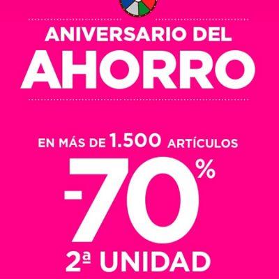70% en Segunda Unidad en 1.600 productos en el Supermercado de El Corte Inglés. Vale de 10 euros para tu próxima compra Click&Car y además .