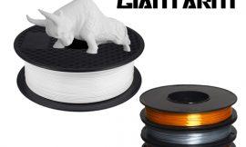 Filamento PLA para impresoras 3D, 1.75mm, 1kg por 16,24€ antes 21,49€; 3 bobinas 0.5kg color oro, plata, cobre 30,99€.