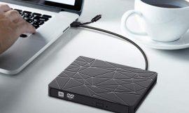 Unidad externa portátil grabadora de CD, lector DVD, USB tipo A/C 3.0 para Mac OS/Windows por 14,29€ antes 21,99€.