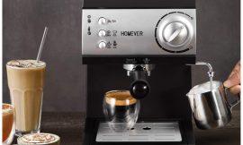 Cafetera Homever Retro Espresso, 1050W, 15bares, 1.5L, doble termostato por 59,99€ antes 99,99€.