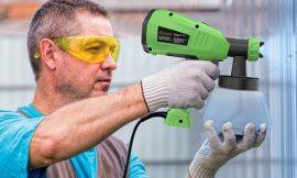 Pistola de pulverización para pintura, 400W/1300ml por 35,99€.