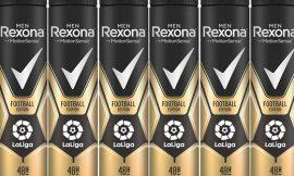 6 Envases de desodorante en spray Rexona Edition Football La liga (6x200ml) por sólo 9,80€.