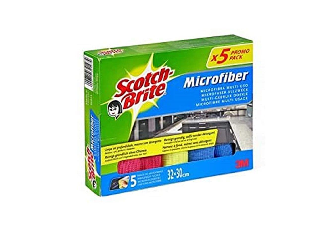 En este momento estás viendo ¡Chollito! 5 bayetas de microfibra Scotch Brite por sólo 3,26€ (antes 5,99€)