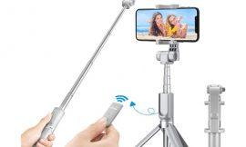 Palo Selfie y trípode Mpow con control remoto bluetooth por solo 12,99€.