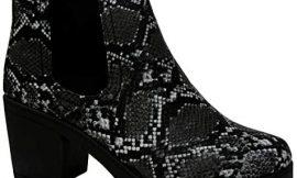 Chelsea – Botas de tobillo para mujer (tacón grueso, plataforma de ante sintético), color negro, color Gris, talla 41 EU