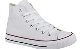 Elara Zapatillas de Deporte Unisex Zapatos Deportivos High Top Chunkyrayan Blanco 85 – En tallas concretas (39 a 42 y 44 a 46)