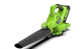 Greenworks Aspiradora inalámbrica y soplador de hojas 2en1 GD40BVK2X (Li)