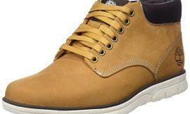 Timberland Bradstreet Leather Sensorflex, Botas Chukka para Hombre, Amarillo Wheat Nubuck, 46 EU