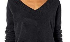 Marca Amazon – Goodthreads Mid-Gauge Stretch V-Neck Sweater Mujer
