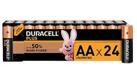 Duracell Plus AA – Pilas Alcalinas Paquete de 24, 1.5 Voltios LR06 MX1500