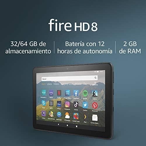 En este momento estás viendo Tablet Fire HD 8, pantalla HD de 8 pulgadas, 32 GB (Negro) – Con publicidad