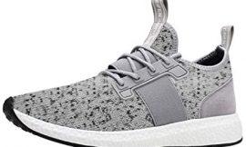 Zapatillas Deportivas de Mujer Gimnasio Zapatos Running Deportivos Fitness Correr Casual Cruzadas de Malla Transpirable Sneakers Negro riou