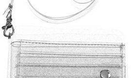 WT-DDJJK Tarjetero, Cartera Transparente con cordón para Mujer, Bonito Monedero Plegable con Purpurina, Tarjetero, Rebajas de Black Friday 2020