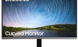 Samsung C27R502 – Monitor Curvo de 27″ sin marcos Full HD (1920×1080, 4 ms, 60 Hz, FreeSync, LED, 16:9, 3000:1, 1800R, 178°, 250 cd/m², Flicker Free, HDMI, Base en Y) Gris Oscuro