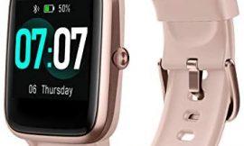 Idealroyal Smartwatch,Reloj Inteligente con Impermeable IP68 Pulsómetros Monitor de Sueño, Reloj con Pantalla Táctil Completa con Cronómetros Contador de Calorías para Android iOS (Rosa)