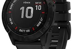 Garmin fēnix 6X PRO – Reloj GPS multideporte con mapas, música, frecuencia cardíaca y sensores, Negro con correa negra