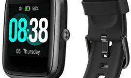 YONMIG Reloj Inteligente Mujer y Hombre, Smartwatch Impermeable IP68 Pulsera Actividad Deportivo con Monitor de Sueño, Pulsómetro, Pantalla Táctil Completa Reloj Fitness para Android y iOS (Negro)