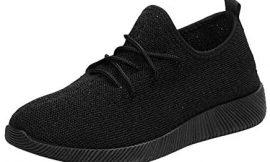 Zapatillas de Deportivos de Running para Mujer Gimnasia Ligero Malla Transpirable con Cordones Zapatillas Deportivas para Correr Fitness para Estudiante riou