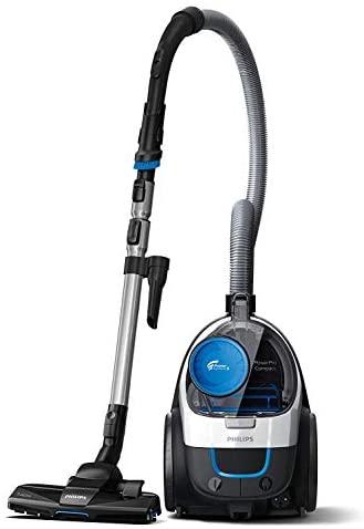 En este momento estás viendo Philips FC9332/09 PowerPro Compact – Aspirador con Sistema Ciclonico sin Bolsa, Deposito 1.5 L, Filtro Antialergias, Facil de Limpiar