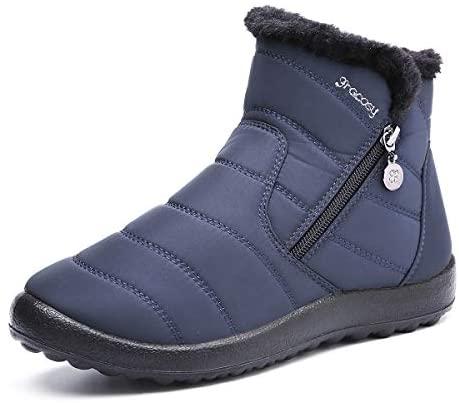 En este momento estás viendo gracosy Botas de Mujer 2020 Otoño Invierno Goma Encaje Forro de Piel Punta Redonda Botas de Nieve Zapatos de Trabajo Formal Calzado Antideslizante Ligero Botines Que Caminan