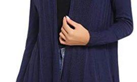 iClosam Ladies Cardigan Chaqueta Larga y Delgada con Ligera Suéter Jersey Chal Abierto Rebecas Mujer de Manga Larga Primavera Y Otoño