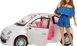 Barbie – Coche muñeca Fiat – coche muñeca, para niñas y niños de más de 3 años (Mattel FVR07)