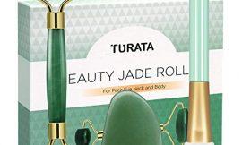 Rodillo de Jade, TURATA Facial Masaje Piedra Gua Sha Jade