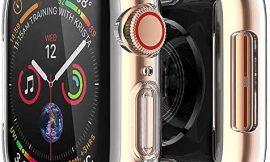 [2 pack] Funda Apple Watch 44mm Series SE 6 5 4, Protector Pantalla iWatch case Protección Completo Anti-Rasguños Ultra Transparente Funda Suave TPU, para Nueva Apple Watch Series SE 6 5 4 44mm