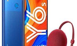 Huawei Y6s – Smartphone de 6.09″ (RAM de 3 GB, Memoria de 32 GB, Cámara trasera de 13MP, Cámara frontal de 8MP, EMUI 9) Azul + Portable Bluetooth Speaker CM51 Rojo