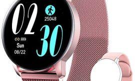 AIMIUVEI Smartwatch, Reloj Inteligente IP67 con Pulsómetro Presión Arterial 8 Modos de Deportes Monitor de Sueño, 1.3 Inch Reloj Deportivo Mujer para iOS y Android