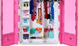 Barbie – Fashionista Armario Portable para Ropa y Accesorios de Muñecas (Mattel GBK11)