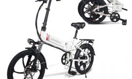Bici eléctrica plegable Fafrees Samebike Blanca o negra, motor sin escobillas 350W, función de y carga de dispositivos, pantalla LCD inteligente, batería desmontable 48V/10.4AH por 680,49€ antes 969,99€.