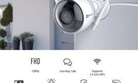 Cámara wifi EZVIZ ezTube, 1080p, IP66, app, visión nocturna, bidireccional, luz estroboscópica y sirena, compatible con Alexa y Google Home por 54,99€ antes 82,21€.
