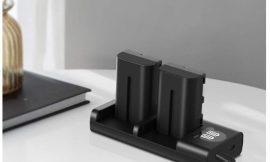 Cargador de doble ranura para cámaras de video Sony ESDDI NP-F550 con dos baterías 1300mAh por solo 9,99€ antes 21,99€.