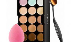 Kit de maquillaje Anself con corrector, esponja y 15 colores por 6,69€.