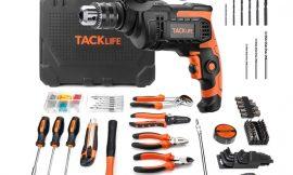 Maletín de herramientas con 145 piezas y taladro percutor 800W Tacklife por 62,99€ antes 79,99€.