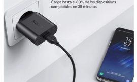 Pack de 2 cargadores 18W Quick Charge 3.0 Aukey por sólo 15,79€ con código.
