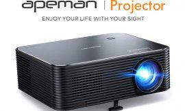 Proyector Apeman LC650, pantalla 300″, Full HD 1920x1080P nativo, reescalado a 4K, corrección de distorsión trapezoidal digital/manual por 139,99€ antes 219,99€.