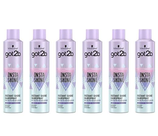 En este momento estás viendo 6 Envases de Laca Shwarzkopf Got2b insta Shine HairSpray por sólo 16,36€.
